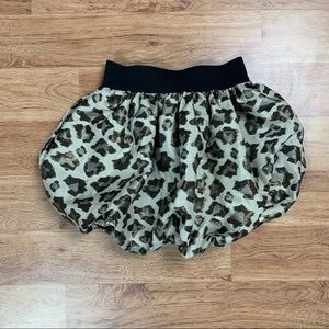 Children's Place Girls Leopard Bubble Hem Skirt